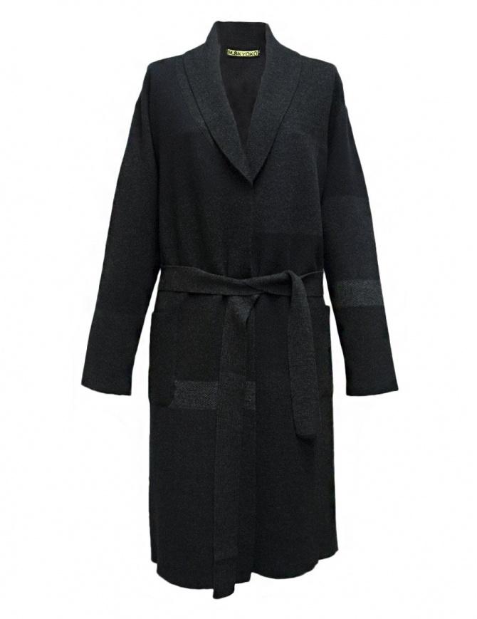 M.&Kyoko dark grey coat KAGA-752-81 womens coats online shopping