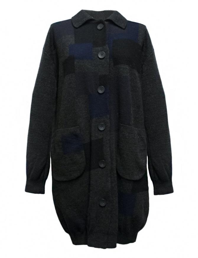 Fuga Fuga dark grey patchwork oversize sweater FAGA 108 73 womens knitwear online shopping