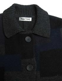 Fuga Fuga dark grey patchwork oversize sweater price