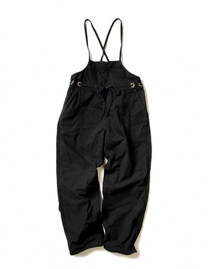 Salopette Kapital in cotone nero EK-237-BLACK-OVERALL pantaloni donna online shopping