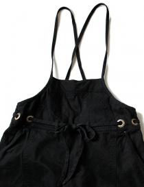 Salopette Kapital in cotone nero pantaloni donna acquista online