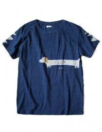 T shirt uomo online: T-shirt Kapital indigo con stampa