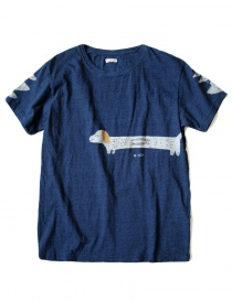 T-shirt Kapital indigo con stampa online