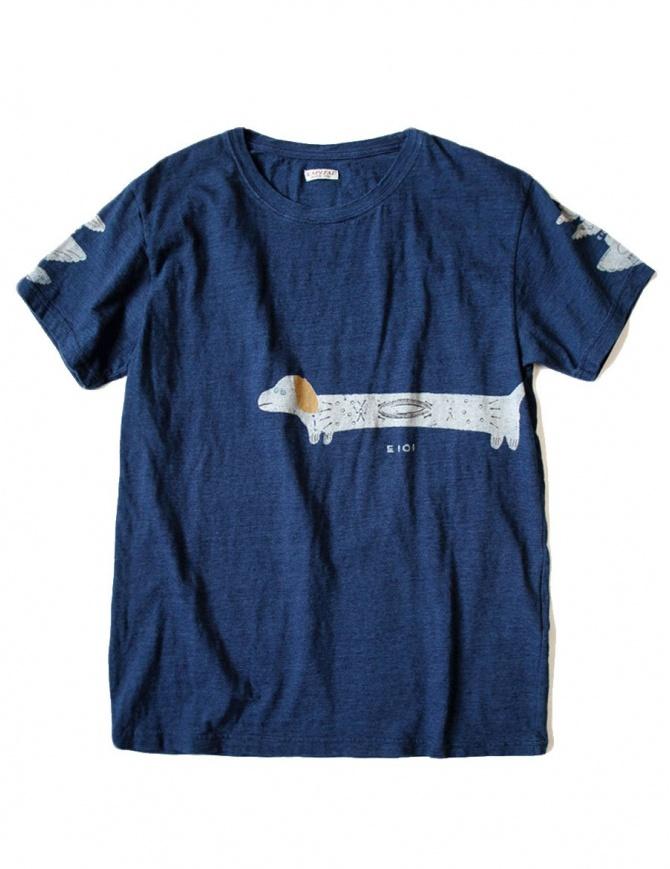 Kapital printed indigo t-shirt K1708SC021-IDG-TSHIRT mens t shirts online shopping