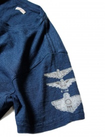 T-shirt Kapital indigo con stampa t shirt uomo acquista online