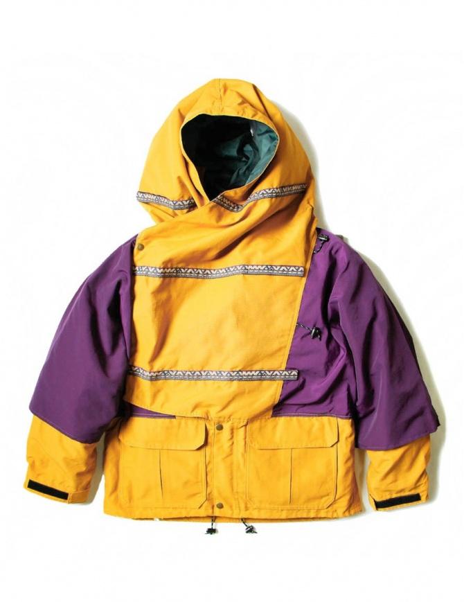 Kapital Kamakura yellow and purple anorak jacket K1708LJ001-PURPLE mens jackets online shopping