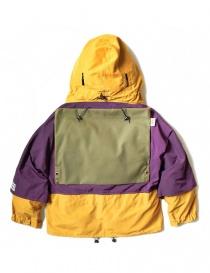 Giacca anorak Kapital Kamakura colore giallo e viola
