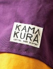 Giacca anorak Kapital Kamakura colore giallo e viola acquista online prezzo