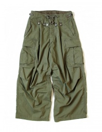 Mens trousers online: Kapital Jumbo Cargo green pants