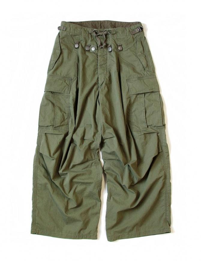 Kapital Jumbo Cargo green pants K1709LP045 mens trousers online shopping