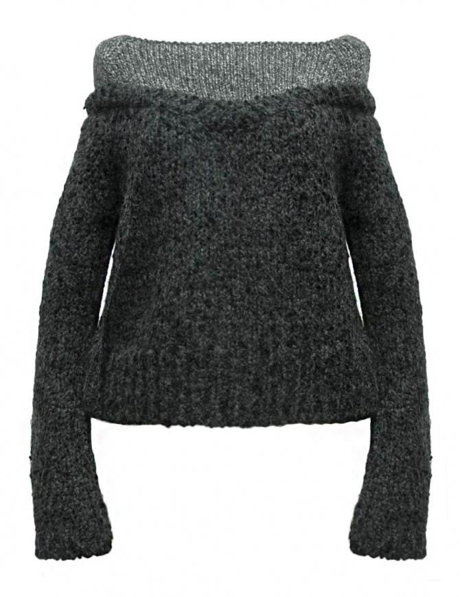 Maglia Rito in alpaca colore grigio 0777RTW212K CGY KNIT maglieria donna online shopping