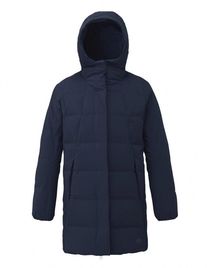 Cappotto piumino Allterrain by Descente Mizusawa Element L colore verde e navy DIA3791WU-GRNV cappotti donna online shopping