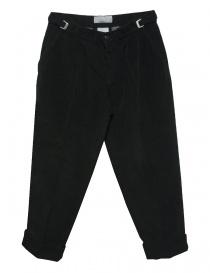 Pantalone Cellar Door Leo T in velluto nero LEOT-P110-99