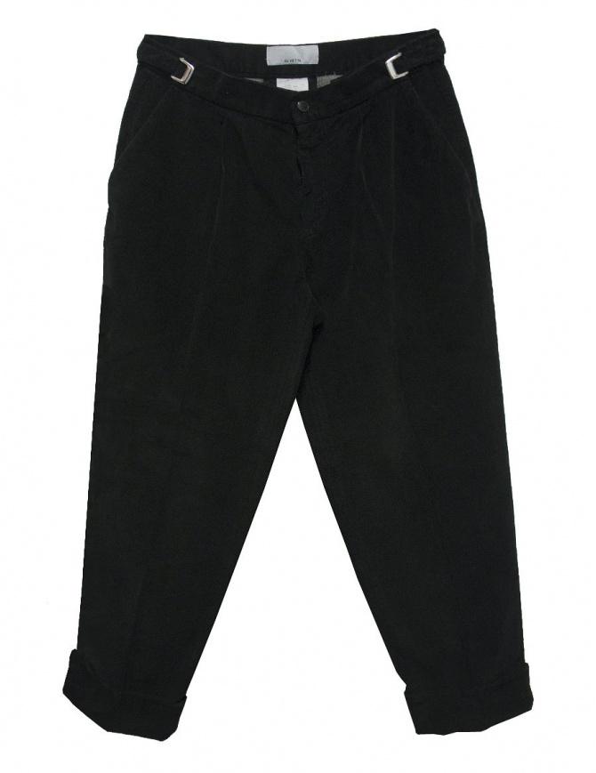 Pantalone Cellar Door Leo T in velluto nero LEOT-P110-99 pantaloni uomo online shopping