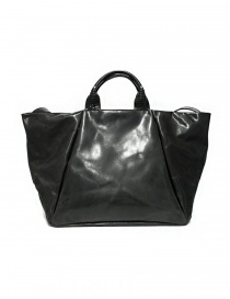 Delle Cose 752 asphalt black leather bag price