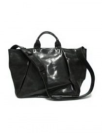 Delle Cose 752 asphalt black leather bag 752 HORSE POLISH ASFALTO