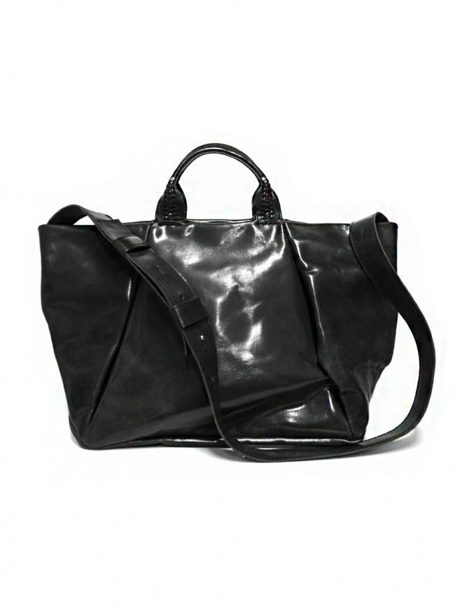Borsa Delle Cose modello 752 in pelle nero asfalto 752 HORSE POLISH ASFALTO borse online shopping