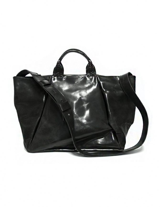Delle Cose 752 asphalt black leather bag 752 HORSE POLISH ASFALTO bags online shopping