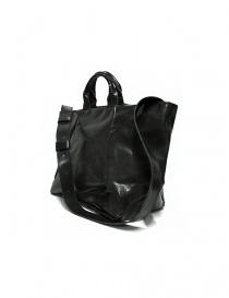 Delle Cose 752 asphalt black leather bag
