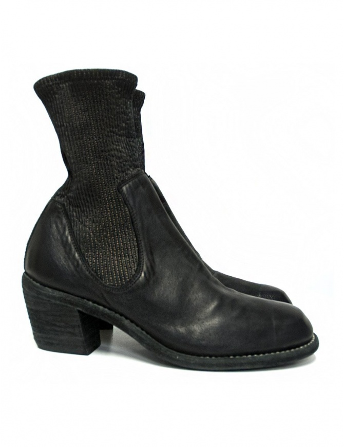 Stivaletto Guidi SB96D in pelle nera SB96D KANGAROO FULL GRAIN calzature donna online shopping