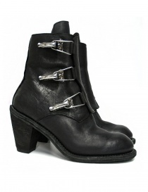 Womens shoes online: Guidi 3095G black leather ankle boots