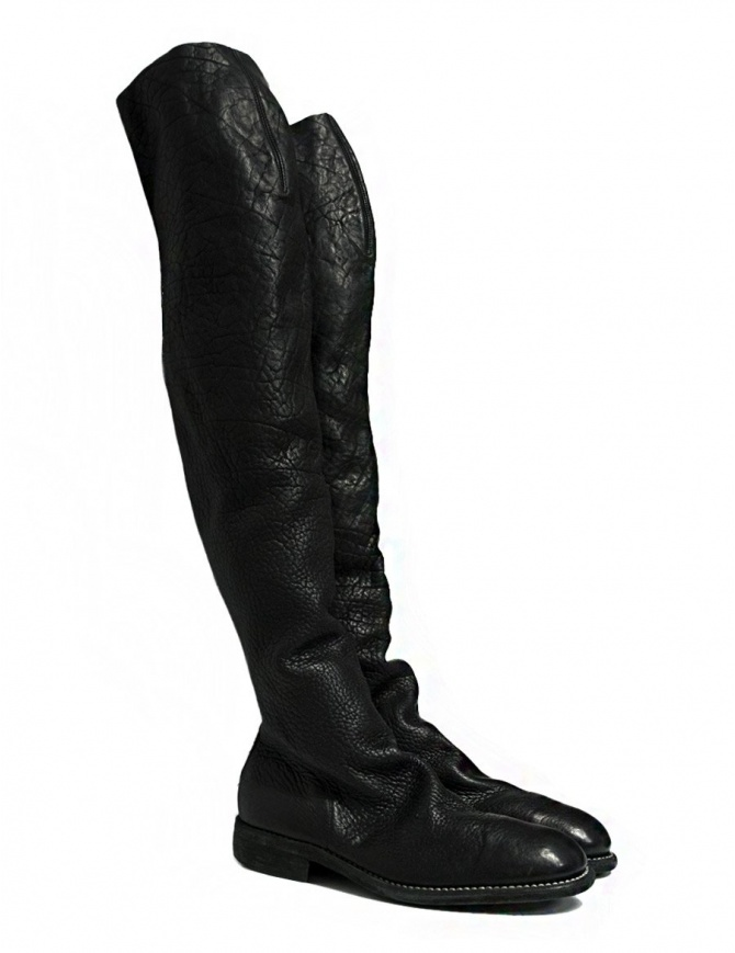 Guidi 9012 Modulated black leather boots 9012-MODULATED-BISON womens shoes online shopping