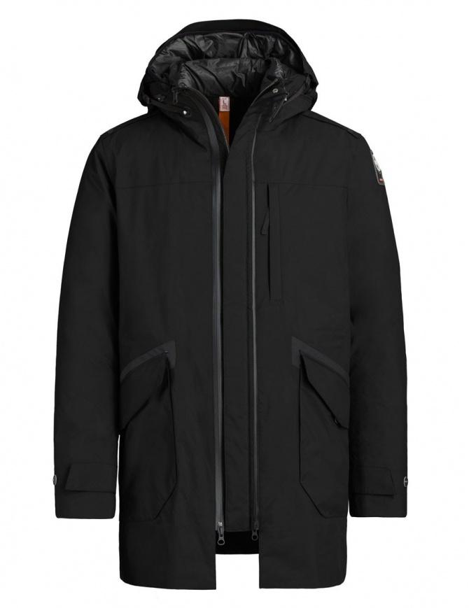 Parajumpers Toudo black parka coat PMJCKKG02-TOUDO-M541 mens coats online shopping