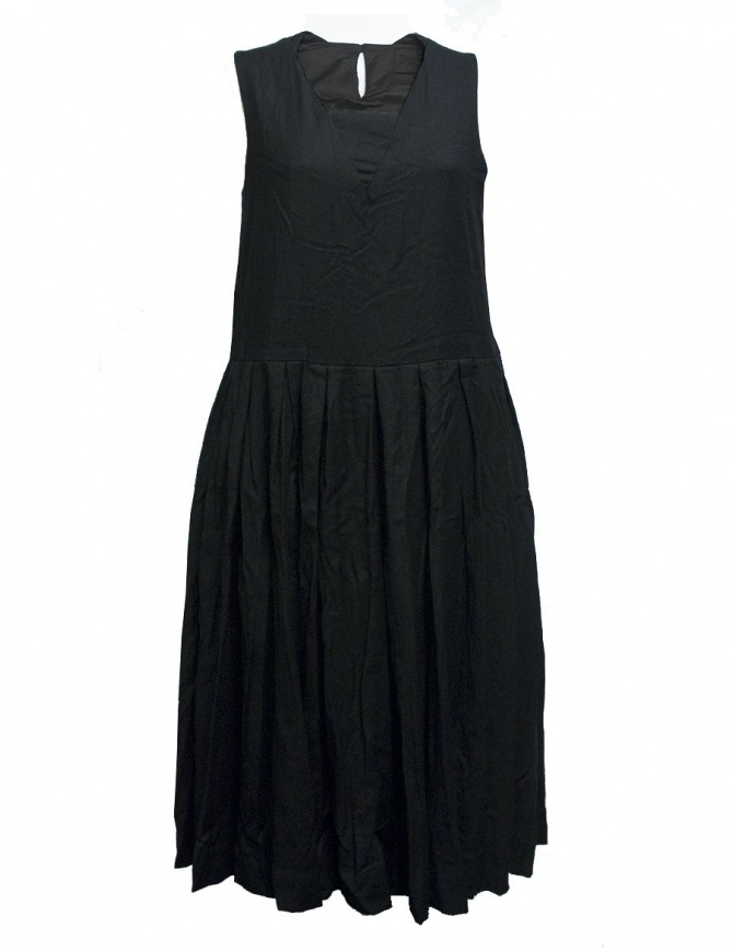 Casey Casey wool and cashmere black dress 09FR185-WOOL-BLK womens dresses online shopping