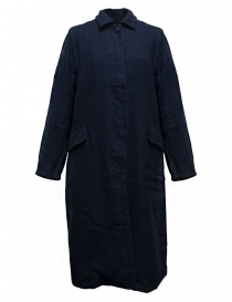 Casey Casey workwear style navy coat 09FM47-WORK-NAVY