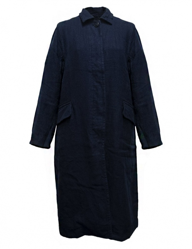 Casey Casey workwear style navy coat 09FM47-WORK-NAVY womens coats online shopping