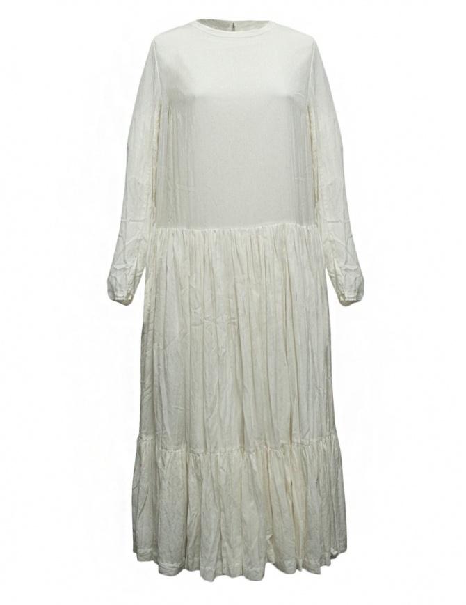 Casey Casey white banana fabric dress 09FR186-BANANA-NATUR womens dresses online shopping