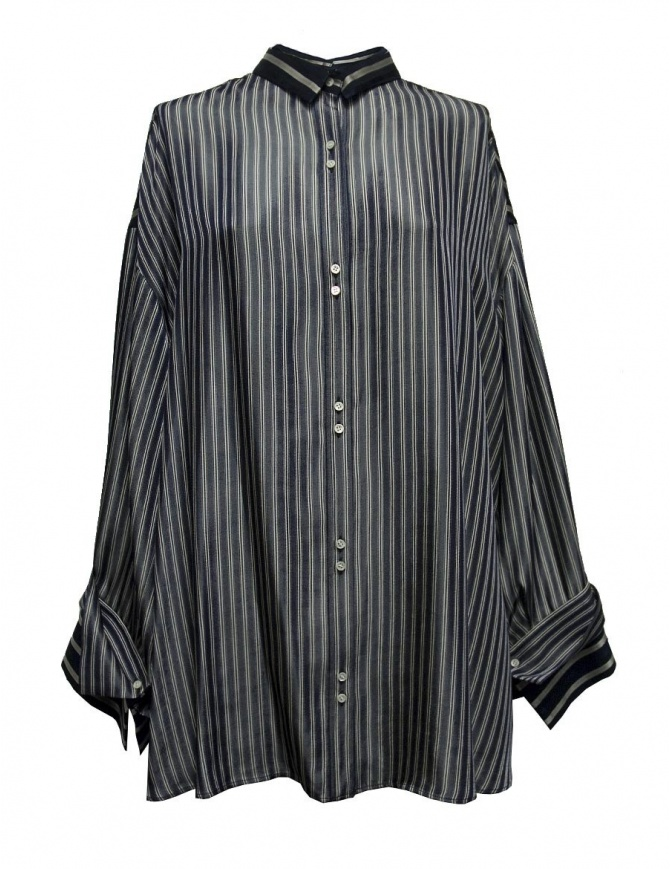 Camicia oversize Rito a righe blu 0777RTW106B-NVY-SHIRT camicie donna online shopping