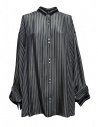 Camicia oversize Rito a righe blu acquista online 0777RTW106B-NVY-SHIRT
