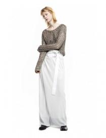 Pantalone Rito colore grigio tenue pantaloni donna acquista online