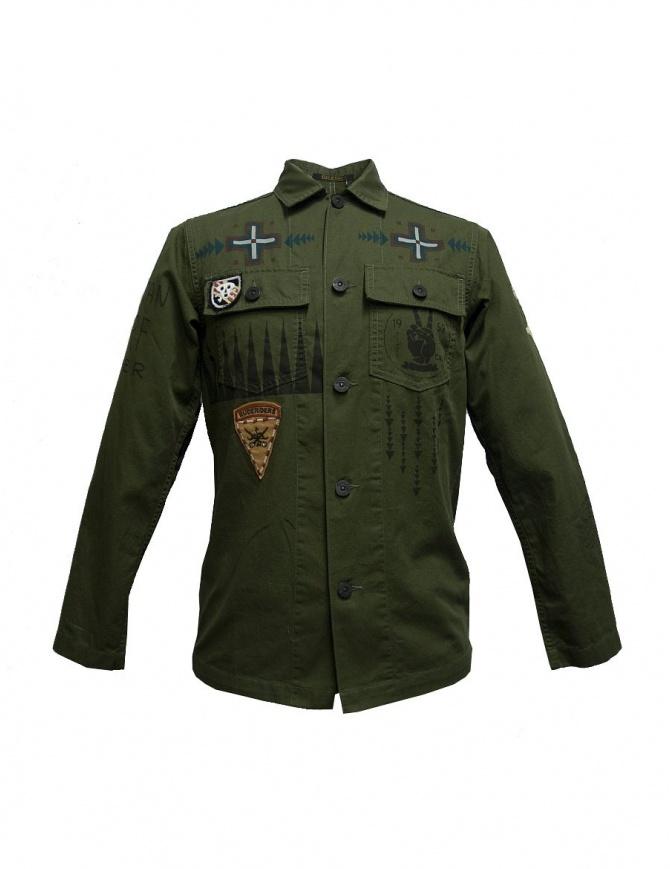 Camicia stampata Rude Riders con patch P94410-85145-SHIRT camicie uomo online shopping