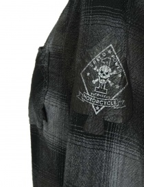 Rude Riders patched and checked dark grey shirt price