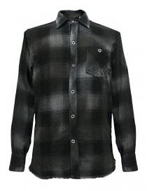Camicia a quadri Rude Riders colore grigio scuro P94404-85145-SHIRT