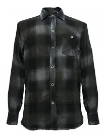Rude Riders patched and checked dark grey shirt P94404-85145-SHIRT order online