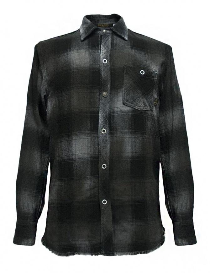 Camicia a quadri Rude Riders colore grigio scuro P94404-85145-SHIRT camicie uomo online shopping