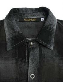 Camicia a quadri Rude Riders colore grigio scuro camicie uomo acquista online