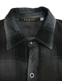Rude Riders patched and checked dark grey shirt mens shirts buy online