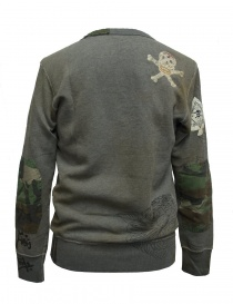 Rude Riders gray patched sweater