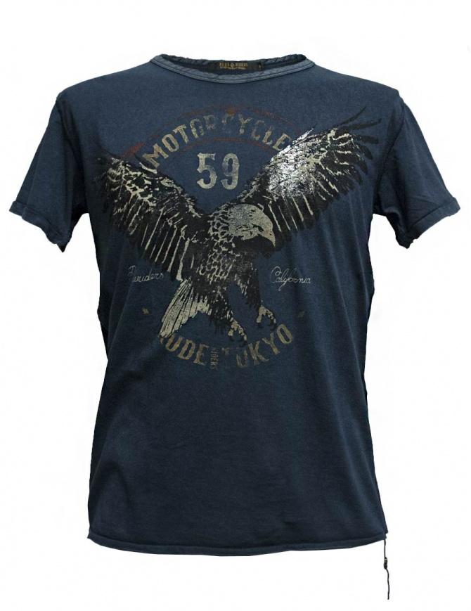 T-shirt Rude Riders colore navy P94074-44529-T-SHIRT t shirt uomo online shopping