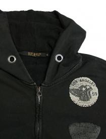 Rude Riders dark gray hooded sweater price