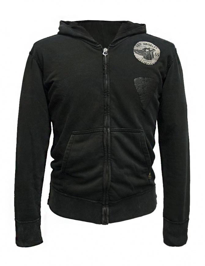 Rude Riders dark gray hooded sweater P94178-22176-HOODIE mens knitwear online shopping