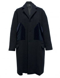 Cappotto Miyao in lana colore blu online