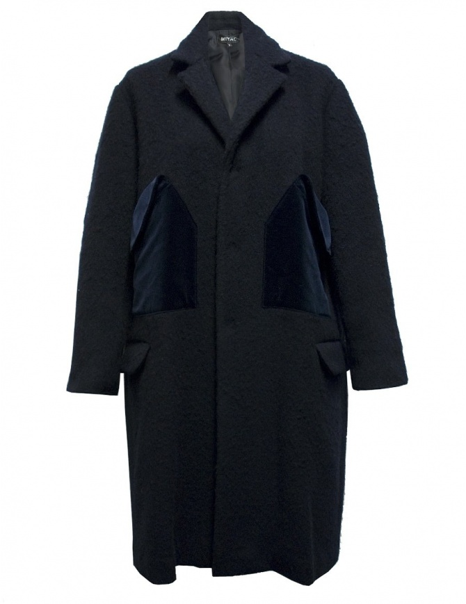 Cappotto Miyao in lana colore blu MN-C-02-COAT-NAVY cappotti donna online shopping