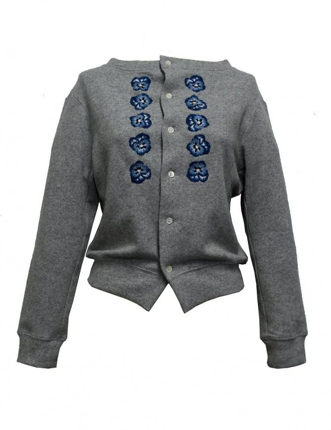 Cardigan ricamato Miyao colore grigio MN-T-03-CARDIGAN maglieria donna online shopping