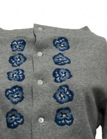 Miyao embroidered gray cardigan price