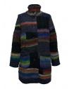 Fuga Fuga multicolor wool coat buy online FAGA-131-51